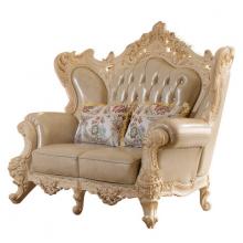 奢华客厅家具欧式真皮沙发实木雕花大小户型客厅沙发