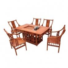 仿古中式茶台古典功夫茶几红木家具