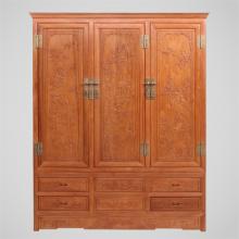 品味四门大衣柜 顶箱柜 明清古典全实木红木衣橱