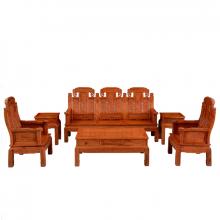 红木沙发组合 红木客厅家具