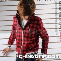 男装批发时尚格子外套非主流百搭款夹克 91241