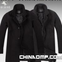 男士毛呢大衣 羊毛加盟 批发小翻领中长款外套风衣