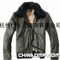 支持混批甲子三组毛领男式修身短款羽绒夹克JZ956