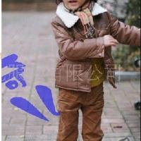 供应批发B2W2童装 冬款男童套装 纯棉连帽