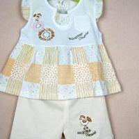 供应韩版童裙 100%纯棉 旭叶正品 小鸡两件裙套