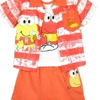 供应901青蛙三件套 100%纯棉 外贸童装