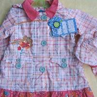 供应外贸童装,童装,品牌童装,精美连帽绣花裙连帽