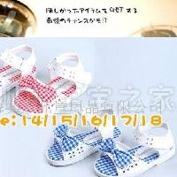 供应外贸童鞋批发 日单休闲 童凉鞋 JBB1040蓝