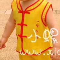 供应儿童唐装 夏 周岁 男宝宝唐装 女宝宝背心套装