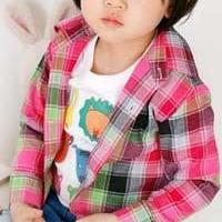 供应外贸童装批发商 批发B2W2韩版主流格仔儿童装衬衫