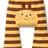供应秋冬新款 可爱漂亮条比纹卡通大PP裤 童裤批发