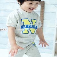供应2010韩版舒适全棉莱卡童装短袖套装