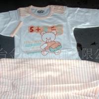 供应婴幼儿彩条棉毛肩扣套