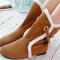 供应靴子2011年新款低筒低跟羊羔毛性感时尚保暖短靴