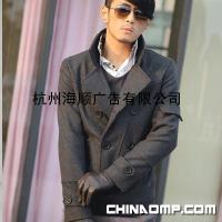 批发代理 韩版男装 男士毛呢大衣 风衣外套055