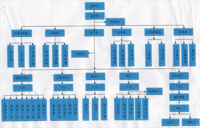 四,公司组织结构图