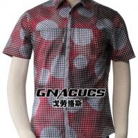 供应戈劳恪斯时尚休闲圆点短袖衬衫