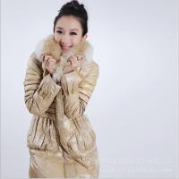 2011热销最新款兔毛领亮丽时尚羽绒服210058