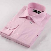 供应戈劳恪斯纯棉粉红色衬衣 精品男式衬衫 商务男装衬衫批发