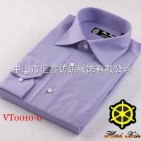 供应戈劳恪斯深紫色条纹长袖衬衣 中山衬衫厂家批发