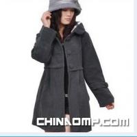 玫恋丝秋冬潮流最新款韩版休闲时尚女装戴帽呢大衣8140