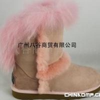 八谷原单雪地靴皮毛一体欧美风格