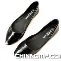 黑色浅口单鞋 小尖头 平底鞋 女鞋 舒适软底