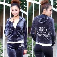 juicy新款金丝绒运动套装女韩国绒运动套装