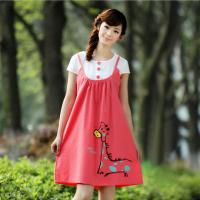 2012韩版新款时尚孕妇连衣裙韩国孕妇装夏装纯棉孕妇裙