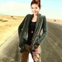 秋季新款针织衫 韩版时尚 双料拼接 开衫外套