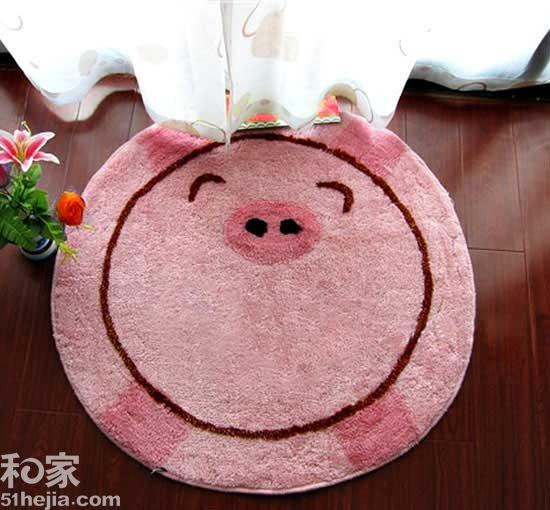 可爱猪猪晴纶地毯