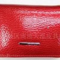 女式真皮漆皮皮夹/钱包/钥匙包,厂家直销