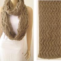 针织围巾十字围巾 保暖围巾仿羊绒