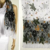 欧美时尚.新款花朵围巾.2011款