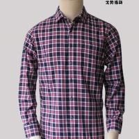 2012秋冬新款戈劳恪斯品牌衬衫 纯棉红黑格长袖正?#32442;?#35013;衬衣