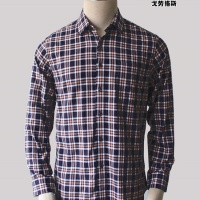 厂家直销 戈劳恪斯衬衫 时尚英伦格子百搭休闲长袖男衬衫
