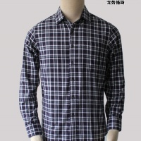 2012秋冬新款戈劳恪斯品牌衬衫 纯棉绿黑格长袖修身衬衫