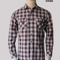 厂家直销 戈劳恪斯纯棉商务休闲红格衬衫 双口袋男士格子衬衫